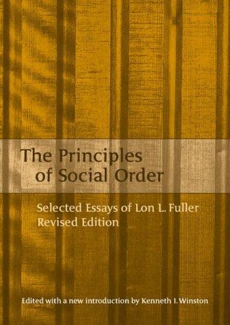 The Principles of Social Order