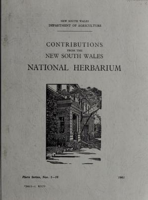 Cover of: Contributions from the New South Wales National Herbarium | New South Wales National Herbarium